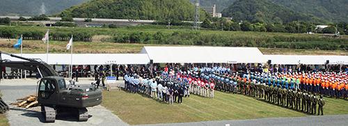 佐波川総合水防演習でパネル展示を行いました!