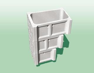 エコボックス逆台形式直積み擁壁